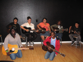 Guitar Class Photo